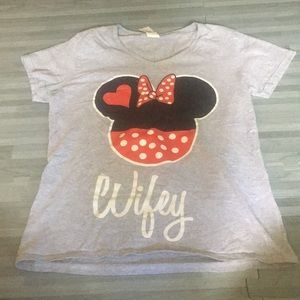 Tops - 🖤Disney Minnie Mouse Inspired Wifey Tshirt🖤